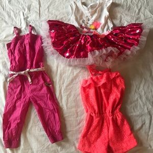 Other - 2/3T Girls Birthday Dress Rompers Lot CUTE!!!!!